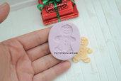 Stampo fimo gingerbread biscotto-ST063 Orecchini fimo gioielli handmade-Natale,bianco natale