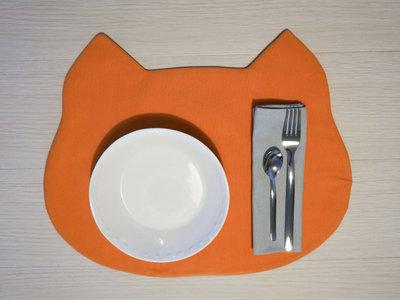tovaglietta americana Gattino arancione fatta a mano + tovagliolo - incassi devoluti in beneficenza a cani e gatti abbandonati
