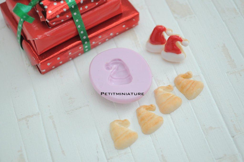 Natale Stampo fimo - ST057 Biscotto-Orecchini Fimo Gioielli handmade-Natale,Bianco Natale,kawaii,Cabochon