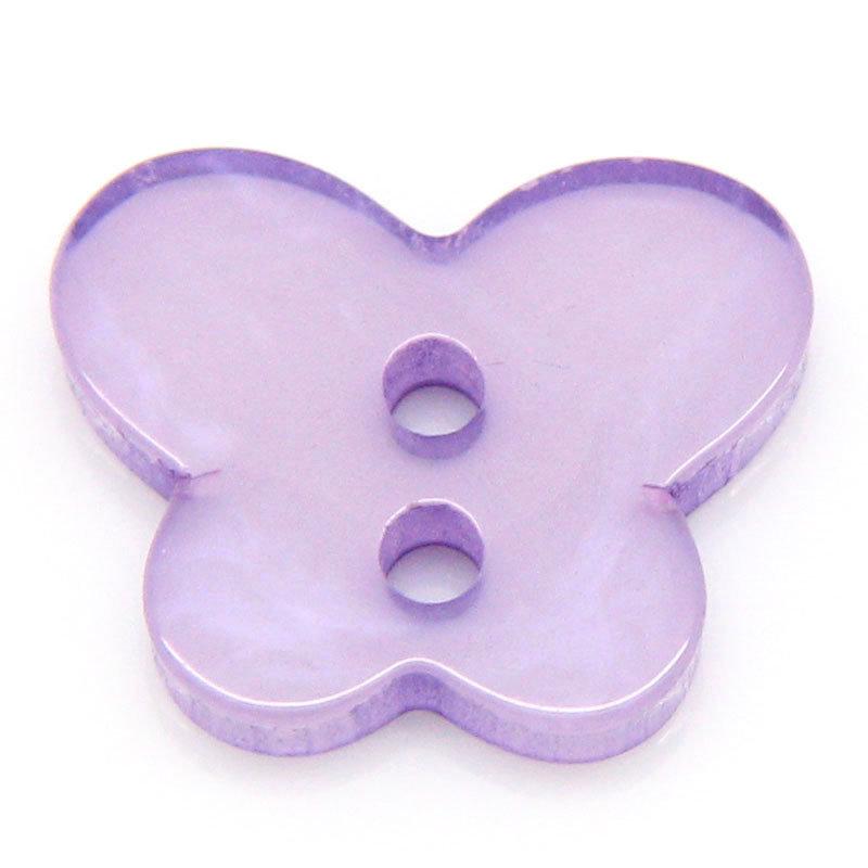 Set 10 bottoni - Farfalla viola