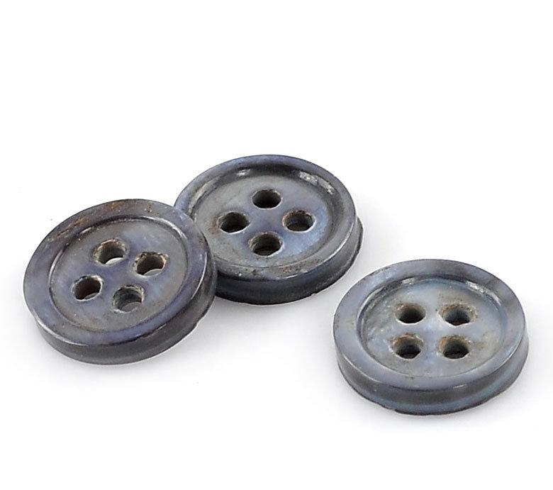 Set 10 bottoni in madreperla - Blu