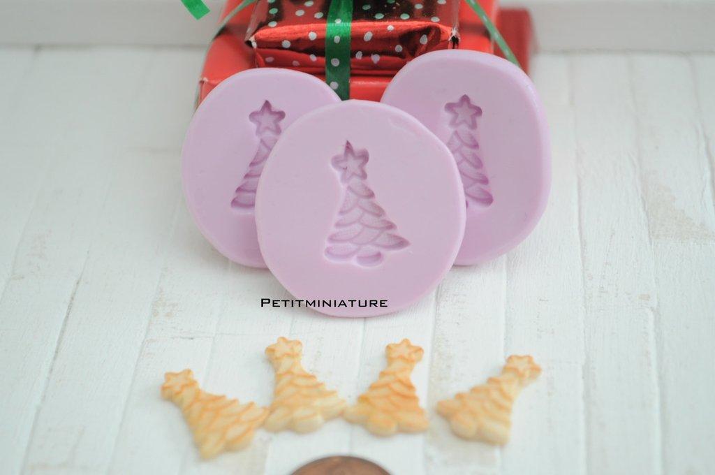 Natale Stampo fimo albero di natale- ST061 Biscotto-Orecchini Fimo Gioielli handmade-Natale,Bianco Natale,kawaii,Cabochon