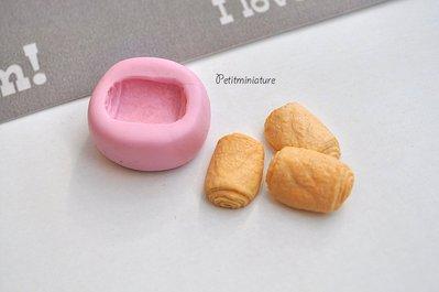 STAMPO PANE ST012 croissant in silicone flessibile stampo dolci dollhouse fimo gioielli charms cabochon cibo in miniatura kawaii
