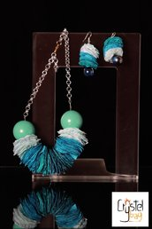 """BLUE"" collana, bijoux handmade"