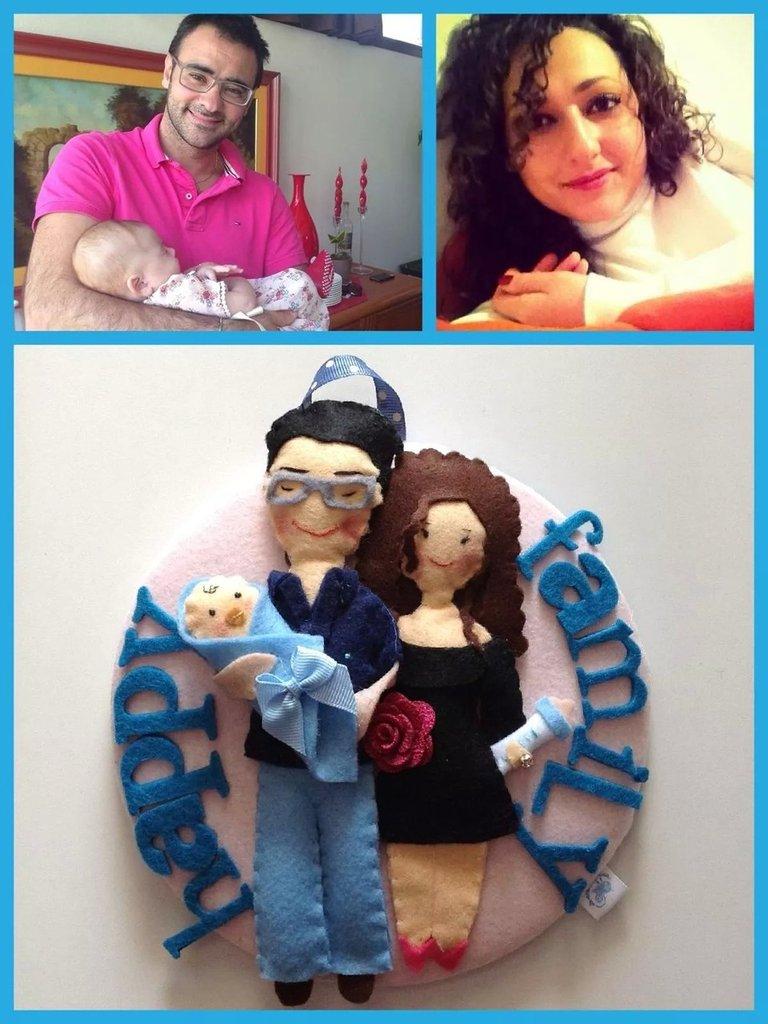 Targa famiglia doll