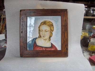madonna raffaello ceramica