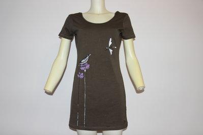 maglietta lunga dipinta a mano