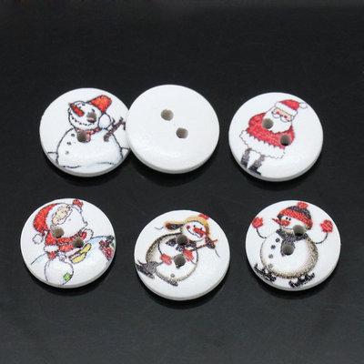 Mix 10 bottoni 15mm - Natale
