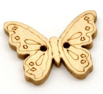 Set 10 bottoni - Farfalla