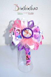 Cerchietto cerchiello accessori bambina corona coroncina frontino ispirato Violetta fiocco capelli