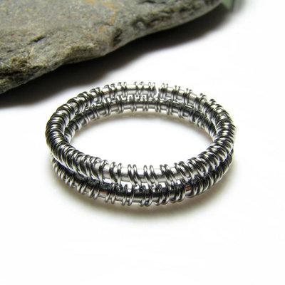 Anello in acciaio inossidabile per uomo, anello unisex, gioiello uomo, gioiello donna - Stainless Steel ring I