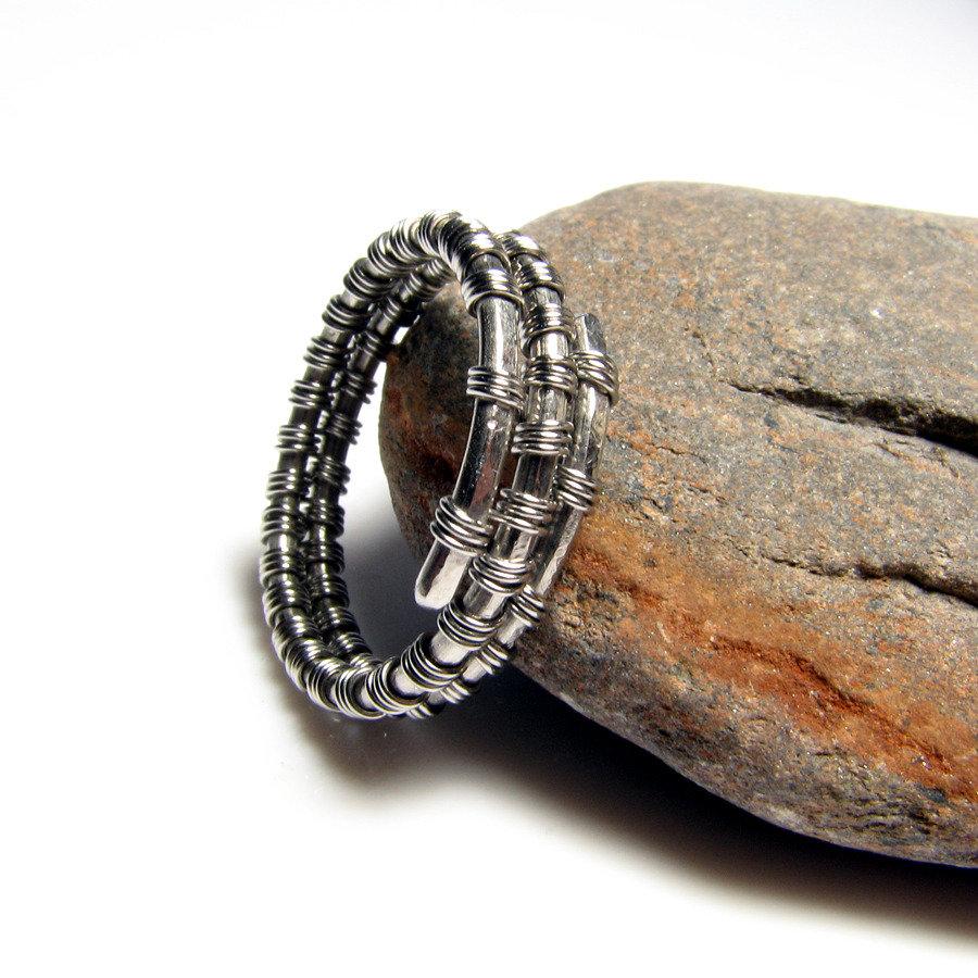 Anello in acciaio inossidabile per uomo, anello unisex, gioiello uomo, gioiello donna - Stainless Steel ring V