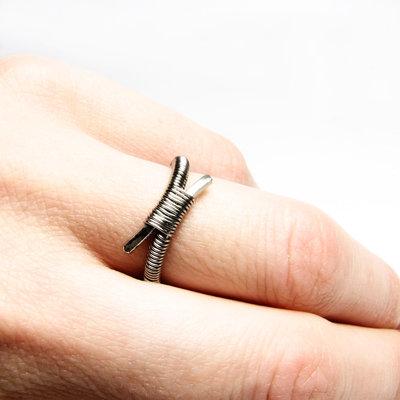 Anello in acciaio inossidabile unisex, anello unisex, gioiello uomo, gioiello donna - Stainless Steel ring IV