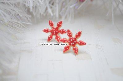 Orecchini Fimo stella di natale,gioielli,handmade,orecchini ,biscotto, gioielli,natale,regali di natale