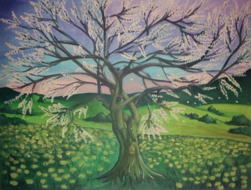 l'albero della vita melo in fiore
