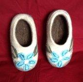 Pantofole in lana cotta