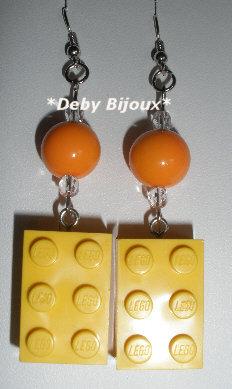 Orecchini mattoncino Lego giallo