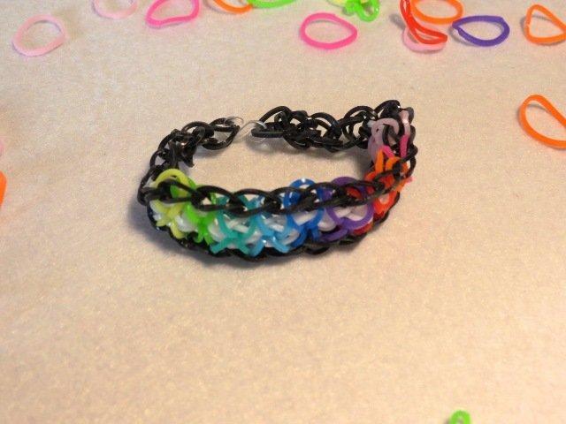Braccialetto in elastico colori dell'arcobaleno