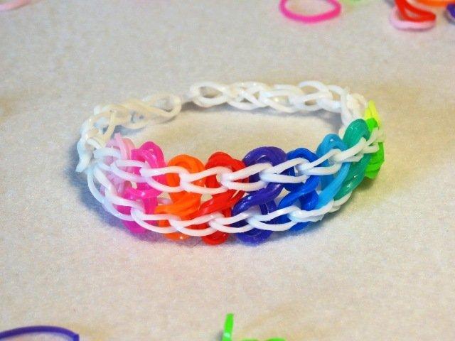 Braccialetto in elastico onde colorate