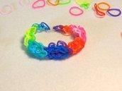 Braccialetto in elastico fiori dell'arcobaleno