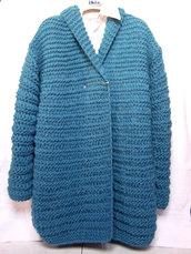 Giacca cappotto a maglia in lana (art.52)