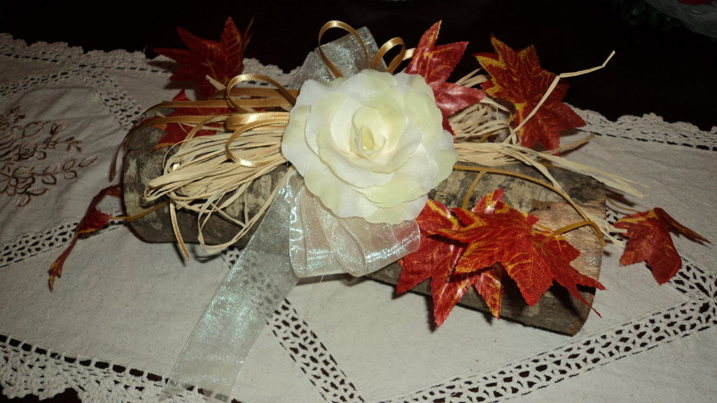centrotavola artigianali matrimoni cerimonie decoro su legno