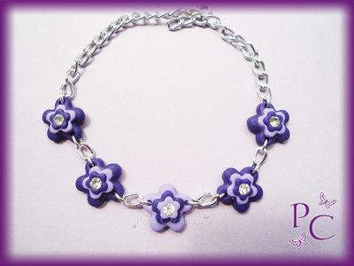 Bracciale Flowers - colore viola