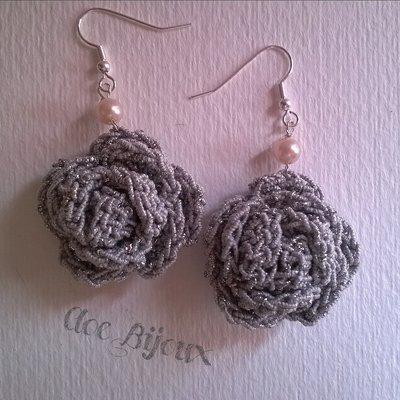 Orecchini rosellina crochet
