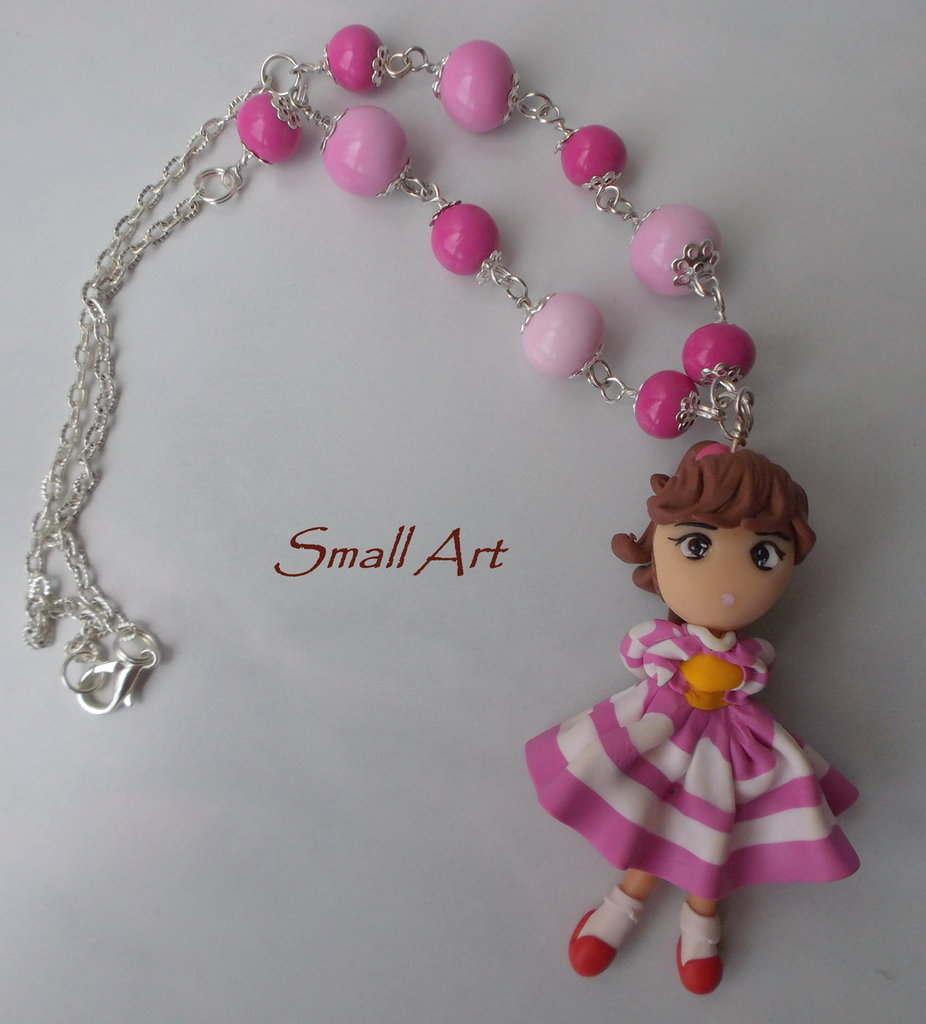 Collana con doll KissMeLicia in fimo