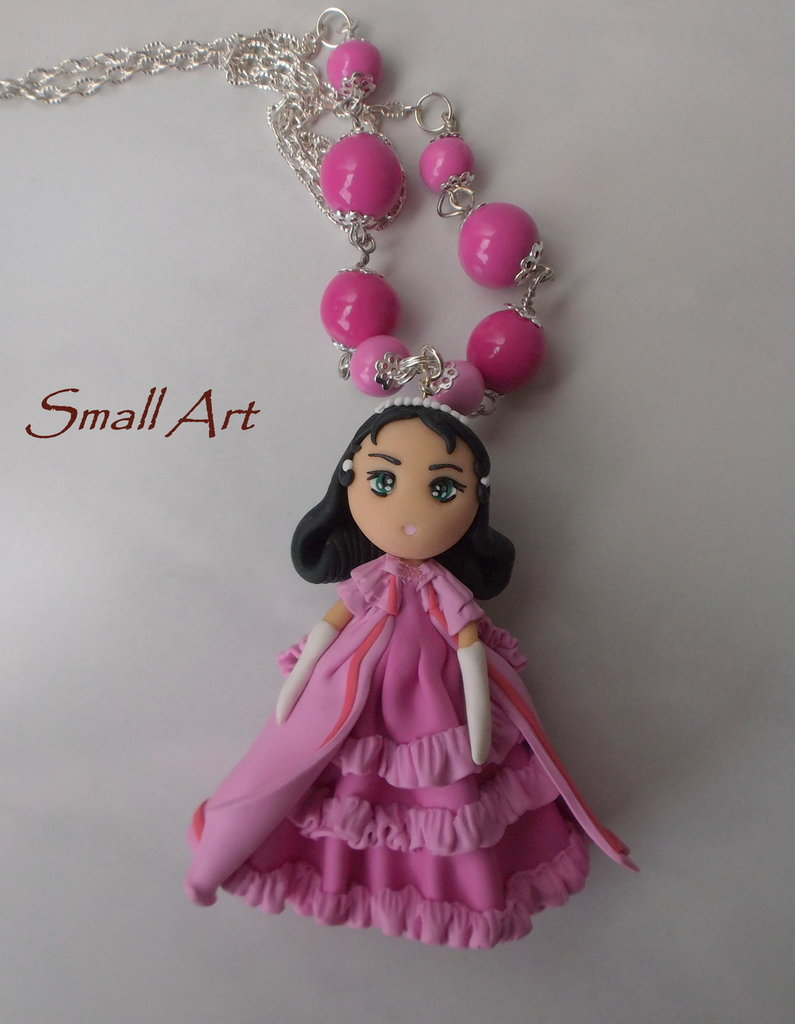 Collana con doll LovelySara in fimo