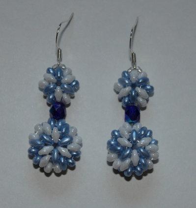 Twister - Orecchini in azzurro e bianco