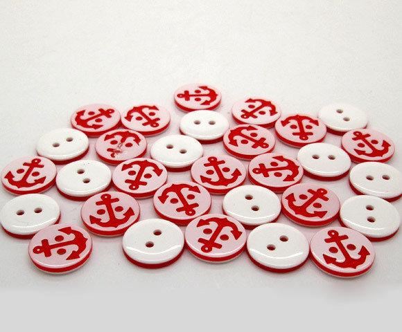 Set 8 bottoni - Ancora