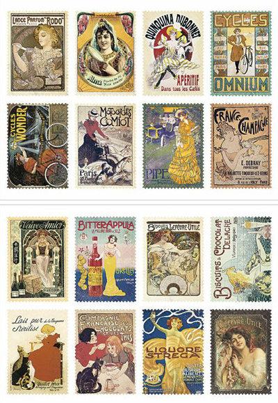 Mix 16 francobolli - Madame