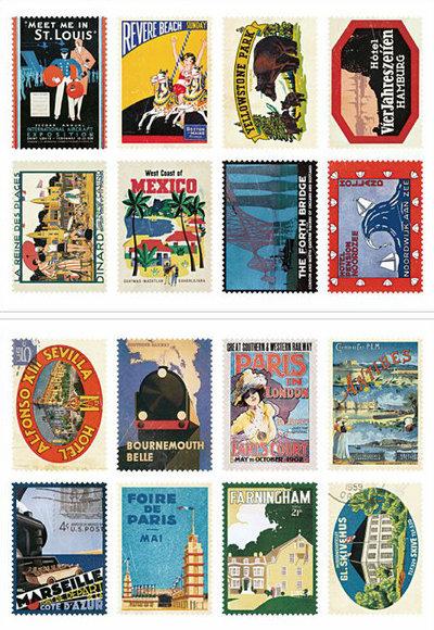 Mix 16 francobolli - Poster