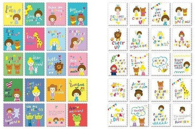 Mix 80 francobolli - Amici