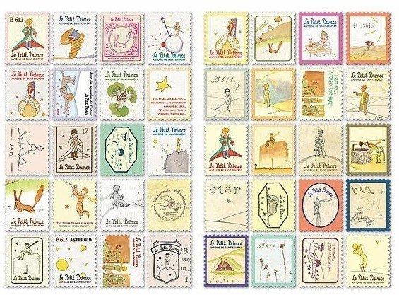 Mix 80 francobolli - Il Piccolo Principe