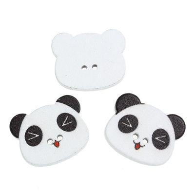 Set 10 bottoni - Panda
