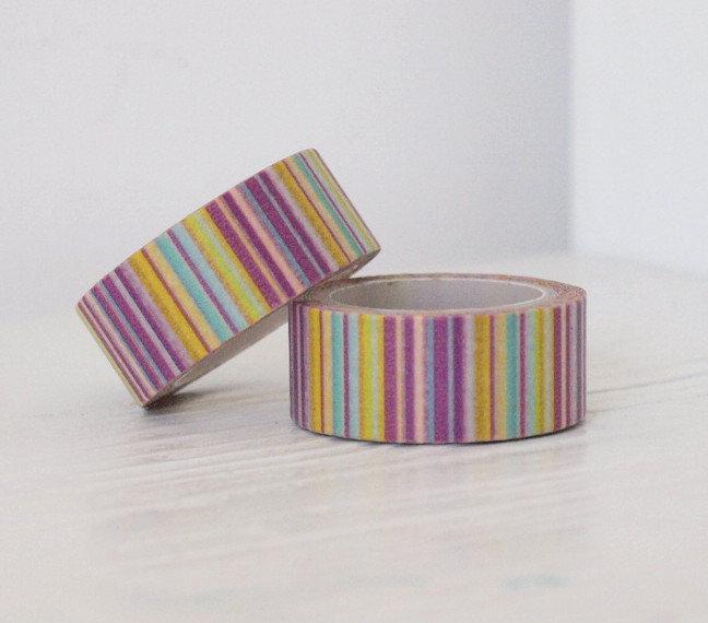 Washi Tape - Purple stripe