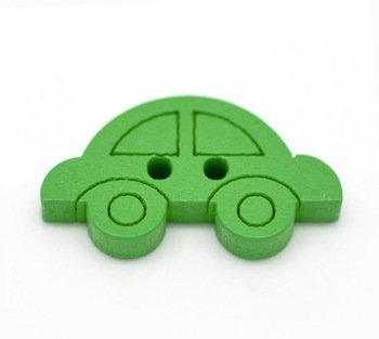 Set 6 bottoni - Macchina verde