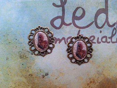 Cammeo in bronzo - farfalla vintage
