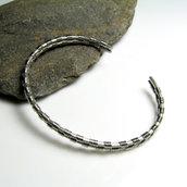 Bracciale in acciaio inossidabile per uomo,bracciale unisex, gioiello uomo, gioiello donna - cod. 0295