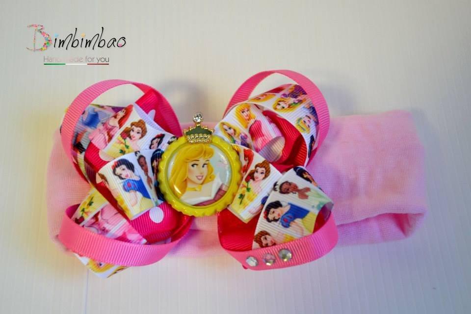 Fascia capelli Aurora fatto a mano hand made principessa princess