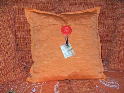 cuscino colore arancio