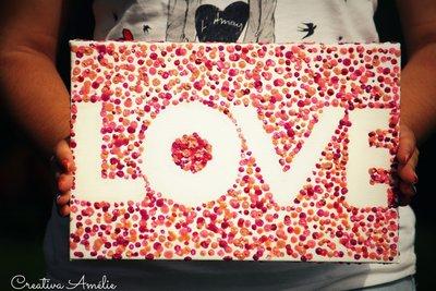 "TELA SCRITTA ""LOVE"""