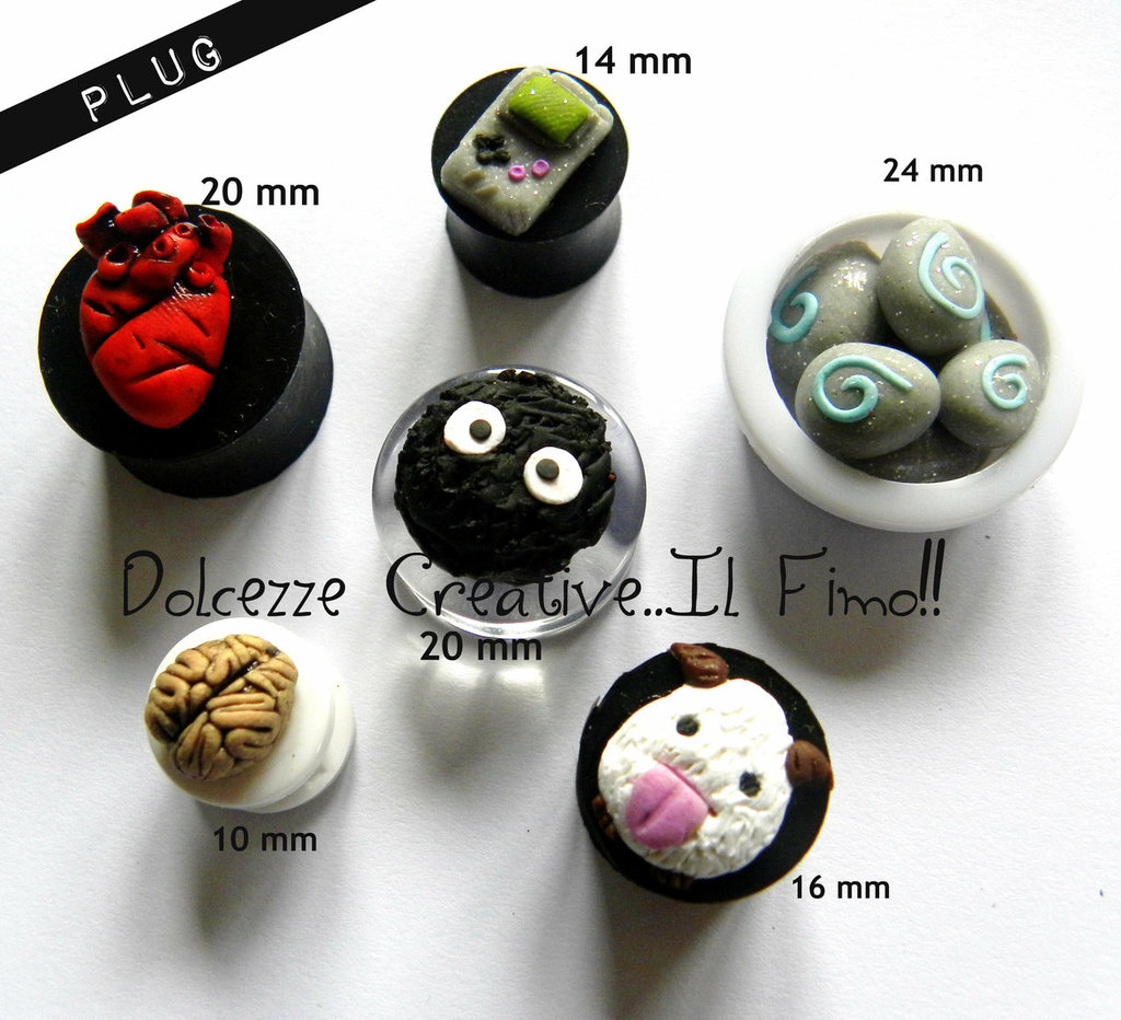 1PCS Flesh Plug Dilatatori Piercing Poro Game Boy cuore cervello horror gothsoot sprite Hearthsto legend of league world of warcraft totoro