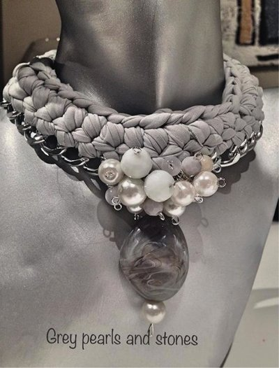 girocollo perle e ceramica