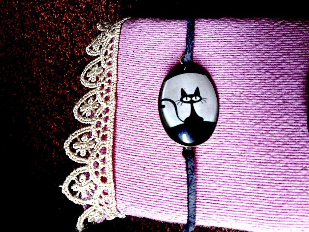 Delizioso bracciale gatto nero