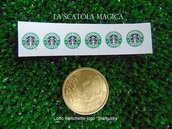 "Lotto 6 loghi ""Starbucks"" per miniature"
