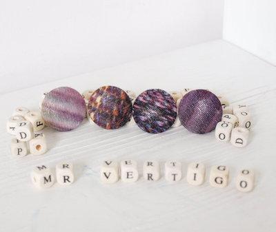 Set 2 bottoni artigianali - Viola