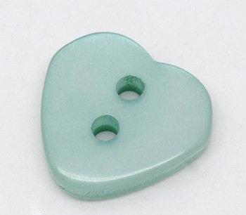 Set 10 bottoni - Cuori azzurri